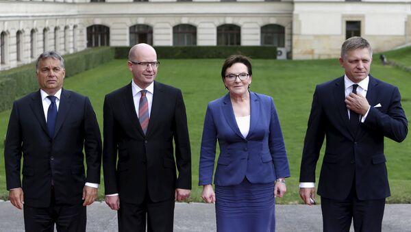 Primi ministri dei Paesi del gruppo di Visegrad - Sputnik Italia