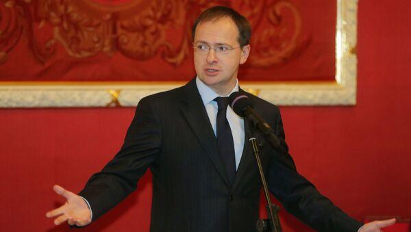 Il ministro della Cultura russo Vladimir Medinskij - Sputnik Italia