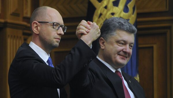 Arseniy Yatsenyuk e Petr Poroshenko - Sputnik Italia