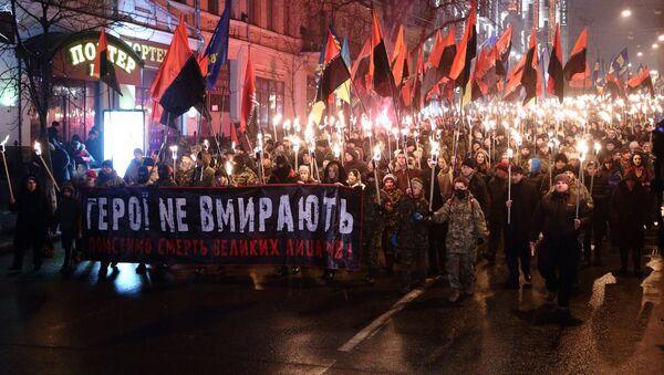 Manifestazione dei neonazisti di Pravy Sektor a Kiev - Sputnik Italia