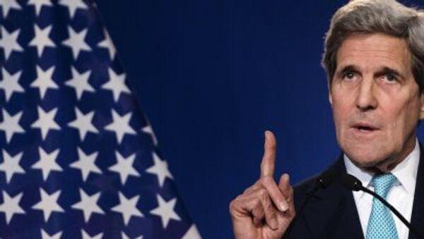 Il Segretario di Stato americano John Kerry ha dichiarato alla stampa che negoziati nucleari si sono conclusi con successo - Sputnik Italia