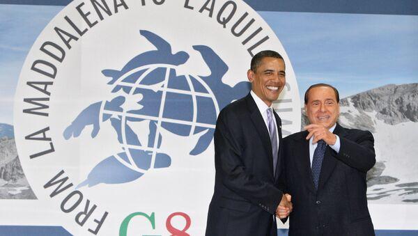 Berlusconi e Obama - Sputnik Italia