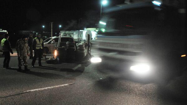 Blocco camion russi nella regione di Lvovo - Sputnik Italia
