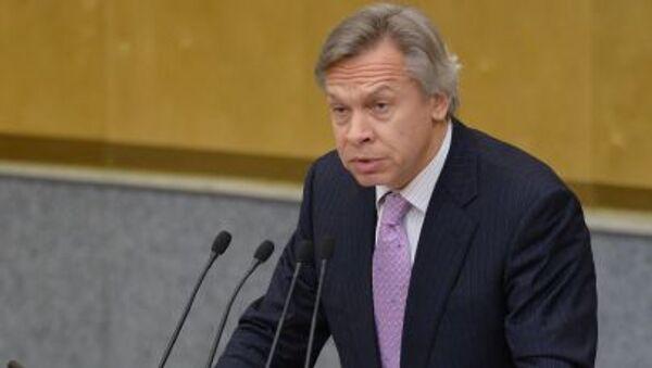 Alexey Pushkov; presidente della Commissione Esteri della Duma - Sputnik Italia