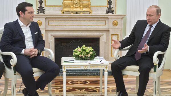 Russian President Vladimir Putin's meeting with Greek Prime Minister Alexis Tsipras - Sputnik Italia