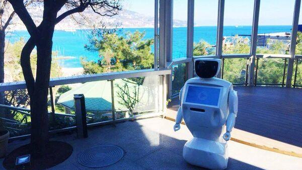 Robot accoglie i clienti di un locale in Crimea - Sputnik Italia