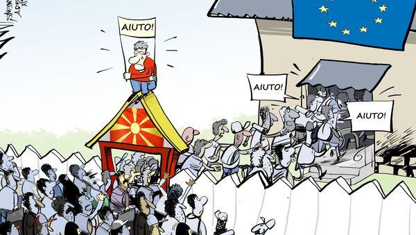 Migranti in Macedonia - Sputnik Italia