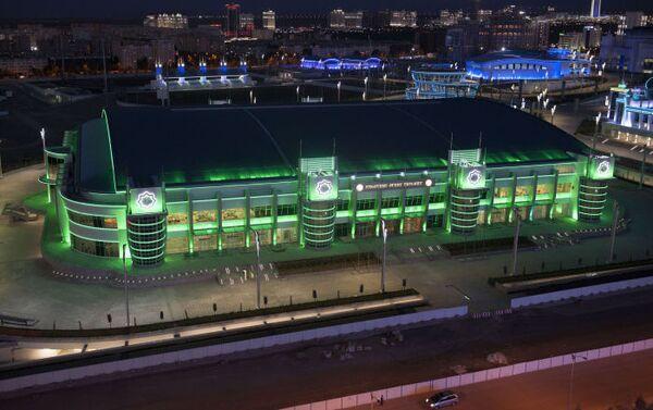 Il nuovissimo Velodromo di Ashgabat, vista dell'edificio dall'esterno - Sputnik Italia