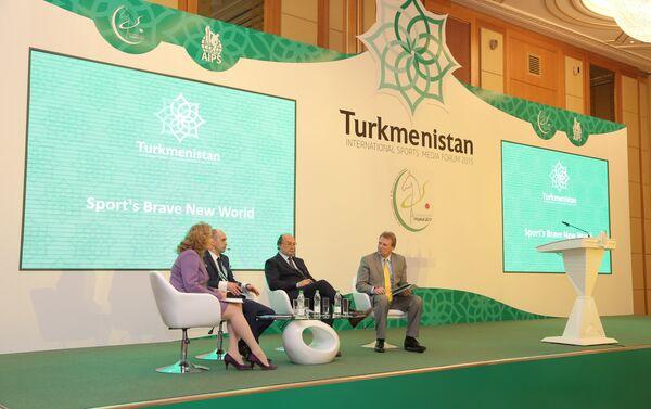 Un momento del Turkmenistan International Sports Media Forum - Sputnik Italia