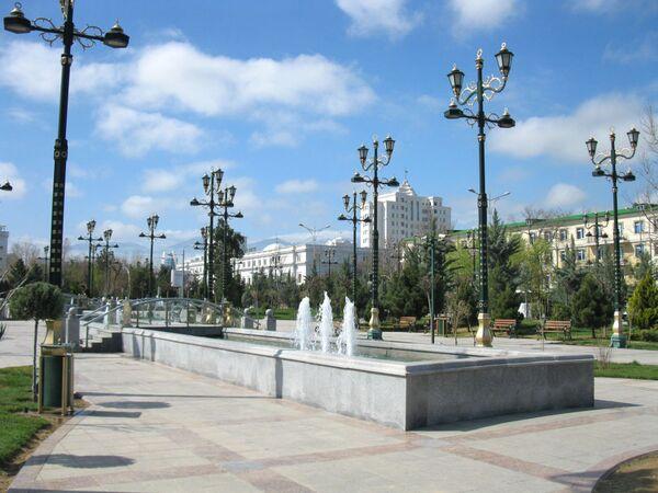 Ashgabat, fontane nel centro della città - Sputnik Italia