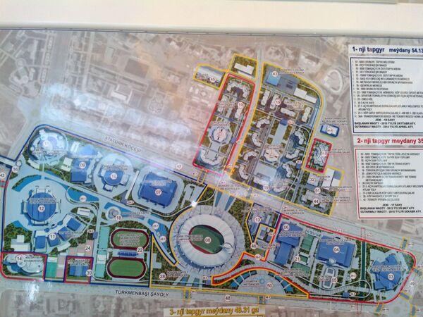 Schema del parco Olimpico di Ashgabat - Sputnik Italia