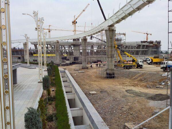 Ashgabat, i lavori di costruzione dello stadio Olimpico - Sputnik Italia
