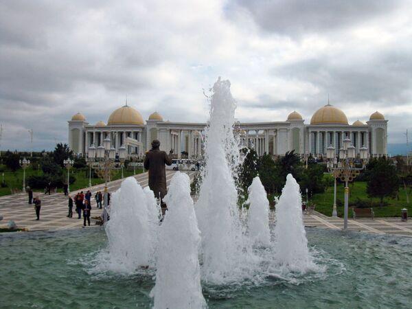 Fontane nel centro di cultura del Turkmenistan - Sputnik Italia