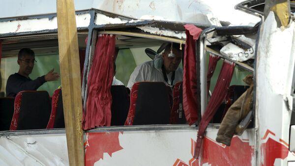 Luogo dell'incidente del bus di Freginals in Spagna - Sputnik Italia