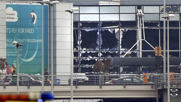 Aeroporto di Bruxelles dopo le esplosioni - Sputnik Italia