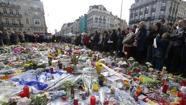Commemorazione degli attentati di Bruxelles del 22 marzo. - Sputnik Italia