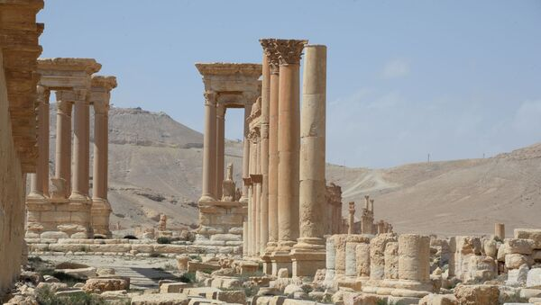 Parte storica di Palmira dopo la liberazione dal Daesh - Sputnik Italia