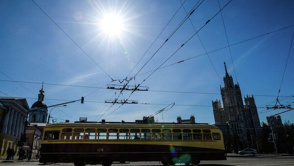 Tram parade 116 Years to Moscow Trams - Sputnik Italia