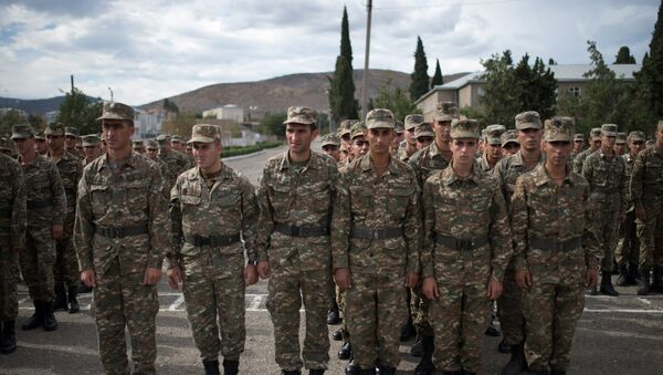 I soldati della repubblica autoproclamata di  Nagorno-Karabakh - Sputnik Italia