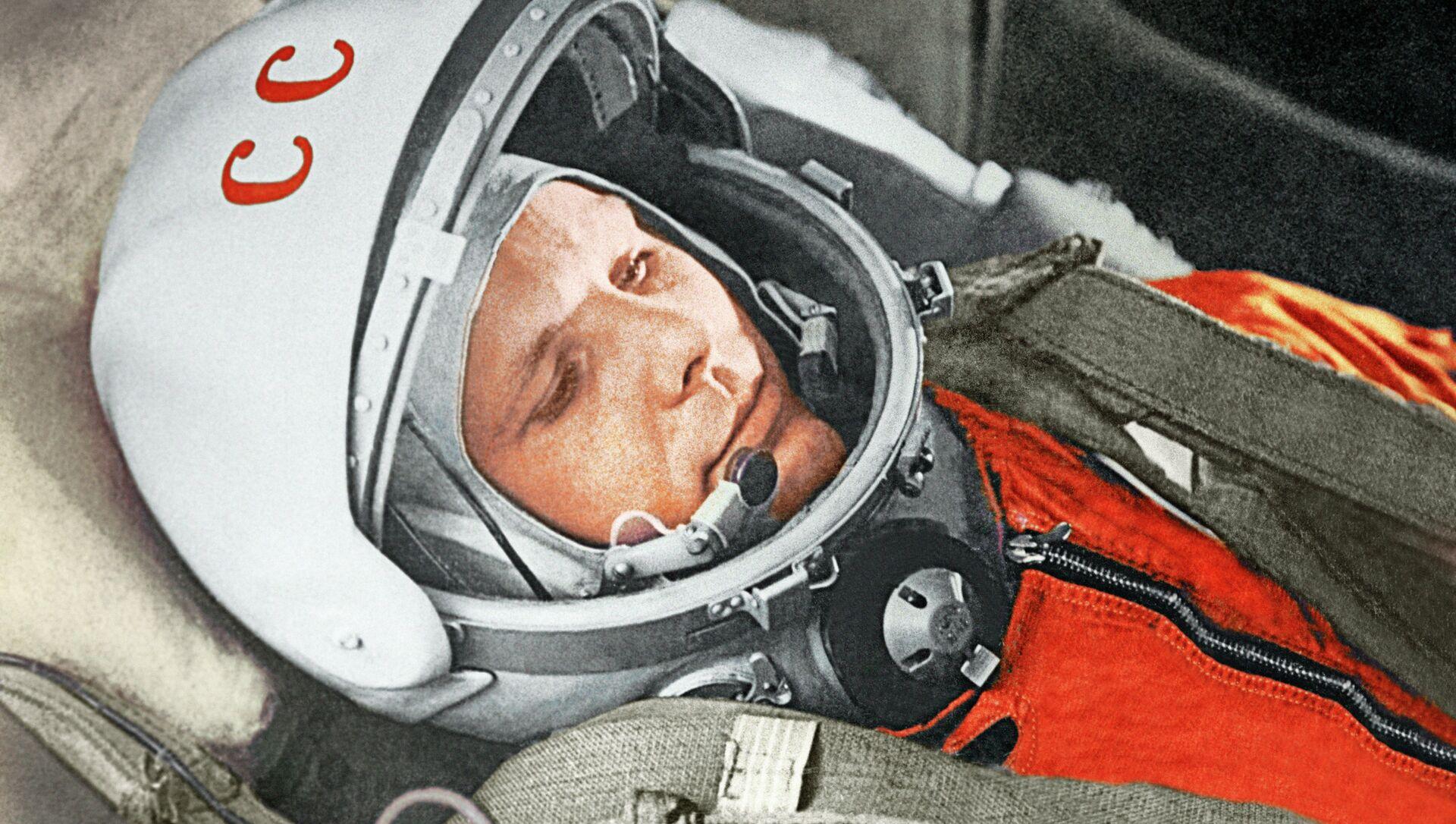 Yurij Gagarin a bordo della navicella Vostok-1 il 12 aprile 1961 - Sputnik Italia, 1920, 12.04.2021
