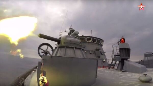La nave a cuscino d'aria più grande nel mondo fa fuoco - Sputnik Italia