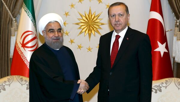 Incontro tra presidente Iran Rouhani e presidente Turchia Erdogan - Sputnik Italia