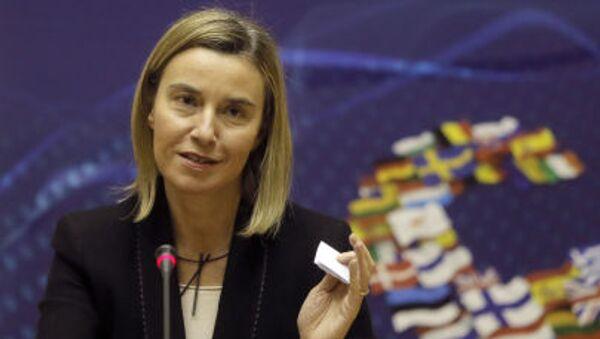 L'Alto rappresentante dell'Unione Europea per gli affari esteri e la politica di sicurezza Federica Mogherini - Sputnik Italia