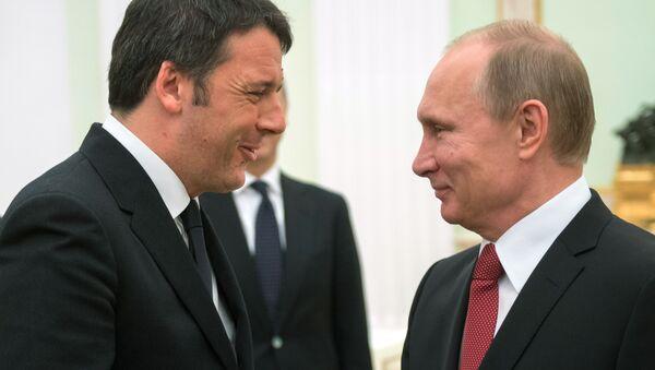 Incontro Renzi e Putin - Sputnik Italia