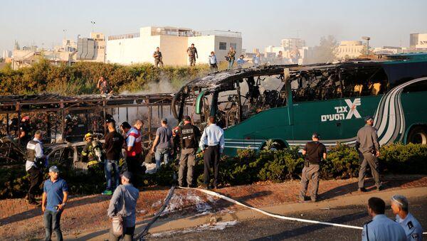 Luogo dell'esplosione di un autobus a Gerusalemme - Sputnik Italia