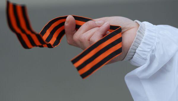 Акция памяти Георгиевская ленточка в Москве - Sputnik Italia