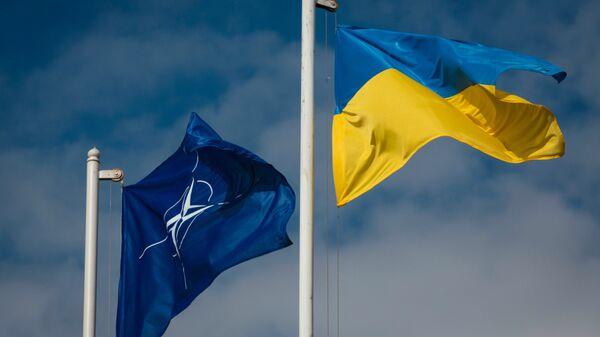 Bandiere dell'Ucraina e della NATO - Sputnik Italia