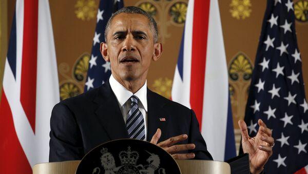 Barack Obama durante visita a Londra - Sputnik Italia