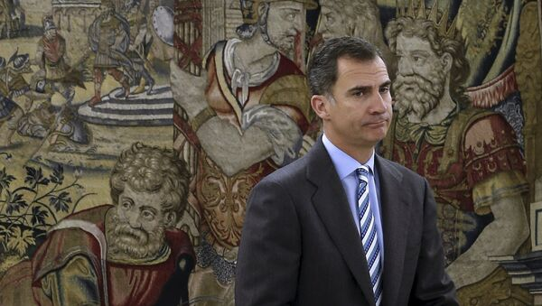 Spanish King Felipe waits for the start of a meeting at Zarzuela palace in Madrid, Spain, January 29, 2016. - Sputnik Italia