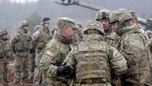 Soldati NATO durante le esercitazioni in Lettonia - Sputnik Italia