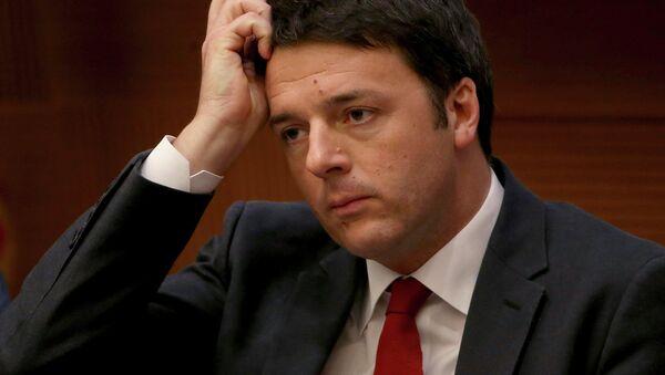 Il Primo Ministro italiano Matteo Renzi - Sputnik Italia