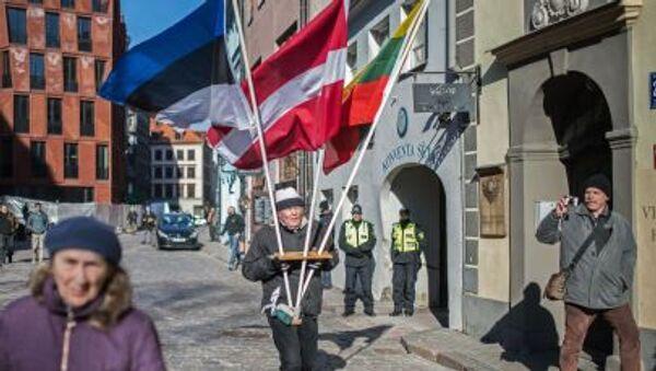 La manifestazione di membri di legione nazista Waffen SS a Riga - Sputnik Italia