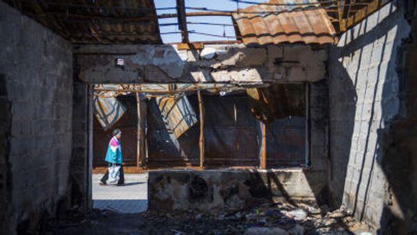 La casa distrutta a Donetsk - Sputnik Italia