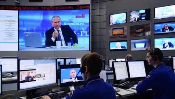 Трансляция Прямой линии с Владимиром Путиным - Sputnik Italia