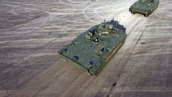 Veicoli trasporto truppe in vista della Parata della Vittoria. - Sputnik Italia