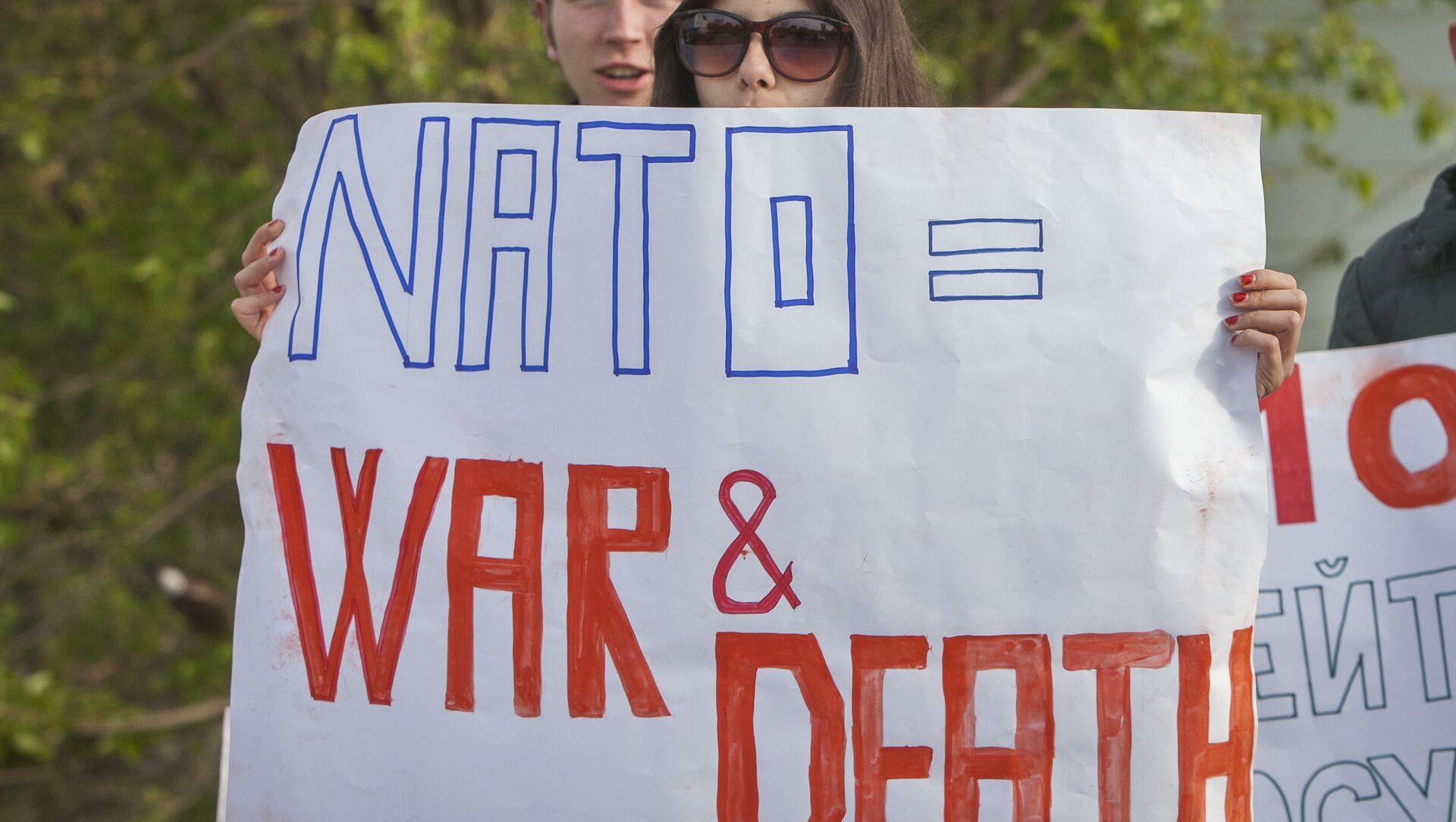 Manifestanti in Moldavia anti-NATO e anti-USA - Sputnik Italia, 1920, 27.04.2021