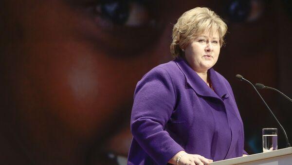 Il Primo ministro norvegese Erna Solberg - Sputnik Italia