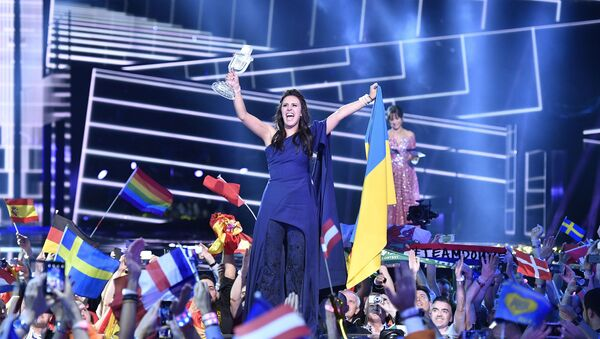 Jamala celebra la vittoria all'Eurovision - Sputnik Italia