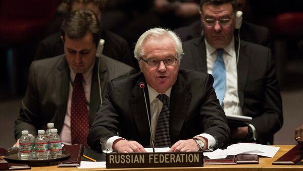 Rappresentante permanente della Russia all'ONU Vitaly Churkin - Sputnik Italia