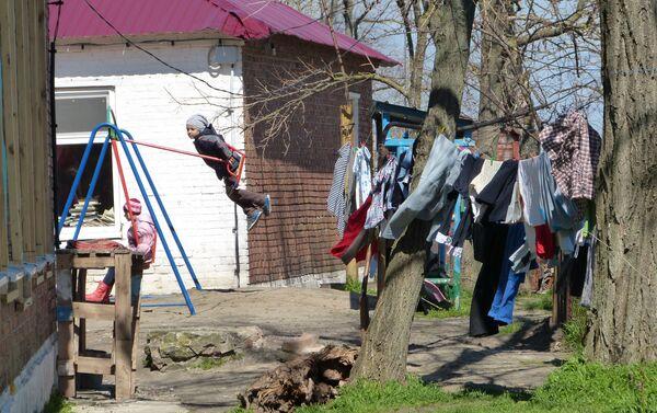 bambini nel campo profughi a Rostov - Sputnik Italia