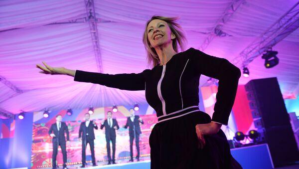 Maria Zakharova durante il ricevimento per i giornalisti al vertice ASEAN a Sochi. - Sputnik Italia