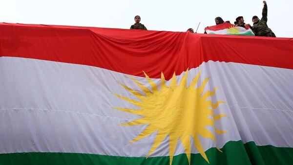 La bandiera di Kurdistan. - Sputnik Italia
