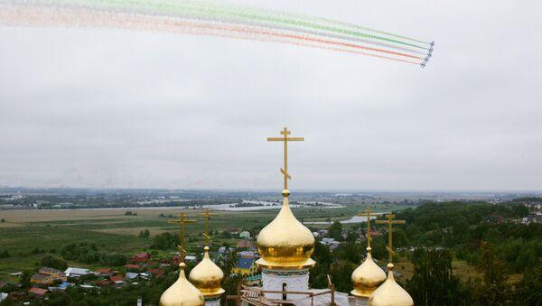 Le Frecce Tricolori nel cielo di Zhukovskiy - Sputnik Italia