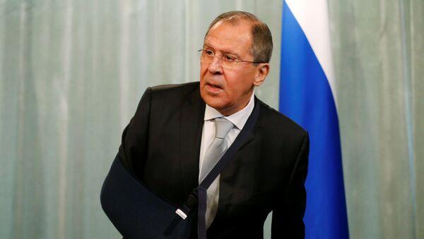 Министр иностранных дел России Сергей Лавров на пресс-конференции в Москве - Sputnik Italia