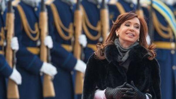 Presidente dell'Argentina Cristina Kirchner al suo arrivo a Mosca - Sputnik Italia