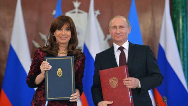 Vladimir Putin e Cristina Kirchner - Sputnik Italia